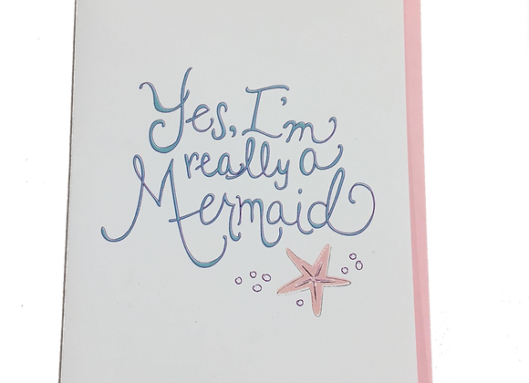 Mermaid Blank Card