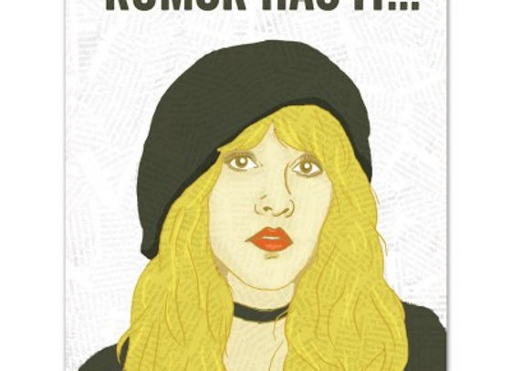 Stevie Nicks Rumor Has It Card by The Found