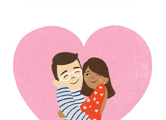 Couple In Heart Card