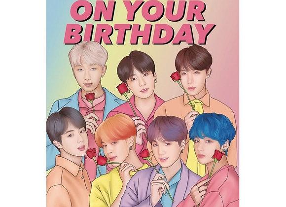 BTS K-Pop Birthday Card