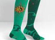Knee High Funky Knee Sun and Moon Socks