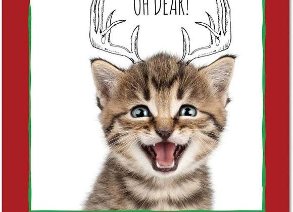Oh Dear Kitty Christmas Card