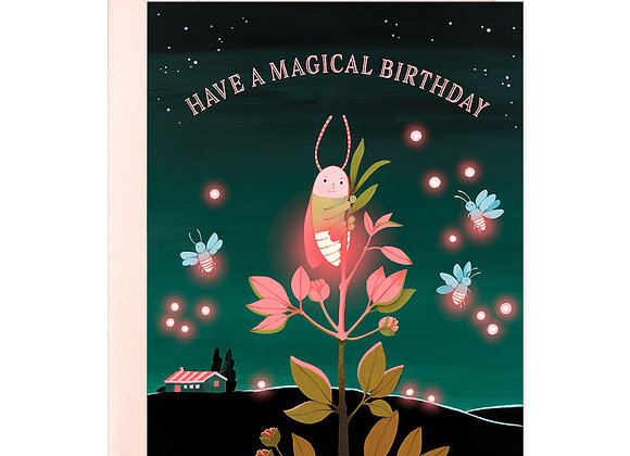 Firefly Neon Birthday Card