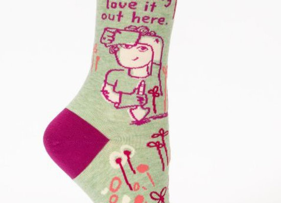 Women's Crew Socks I F*cking Love it Out Here