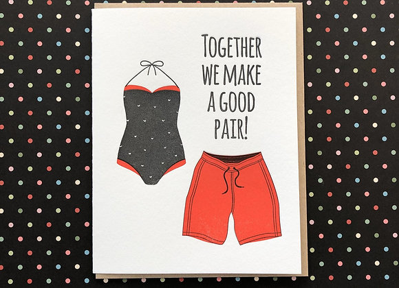 Together Good Pair Card