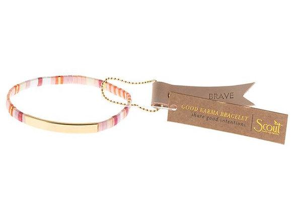Good Karma Miyuki Bracelet Brave Pink Multi Gold