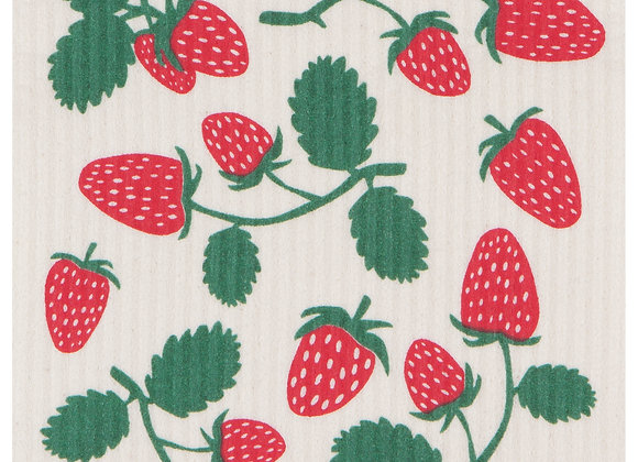 Swedish Dishcloth Strawberries