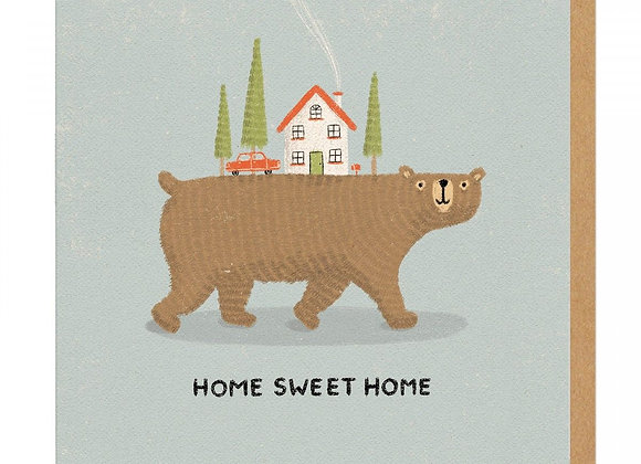 Bear Home Greeting Card