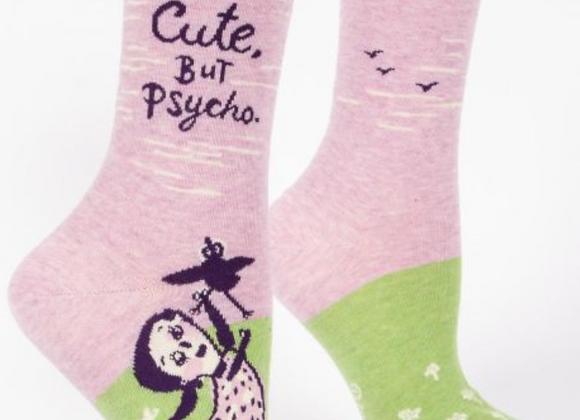 Women's Crew Socks Cute, But Psycho