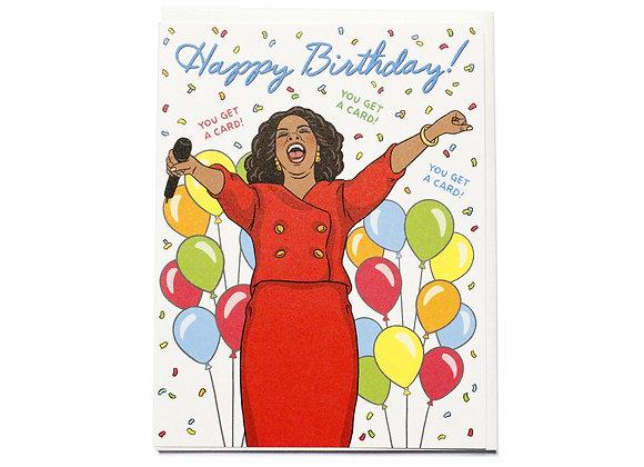 Oprah Happy Birthday Card by The Found