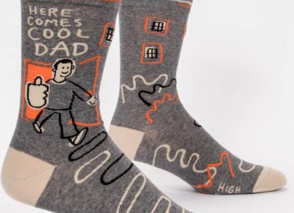 Men's Crew Socks Here Comes Cool Dad