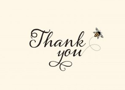 Bumblebee Thank You Boxed Cards