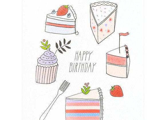 Birthday Desserts Card
