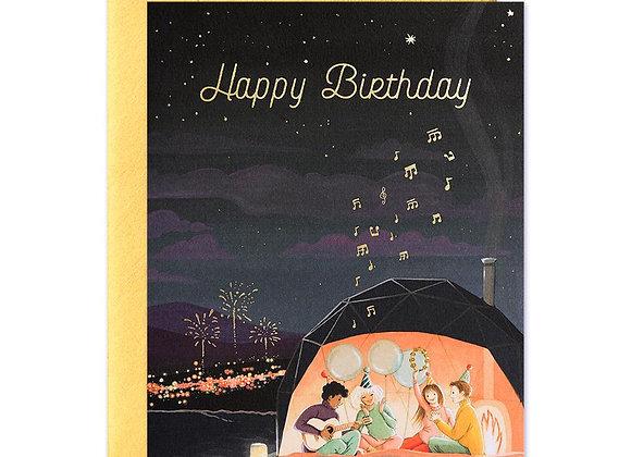 Aurora Dome Birthday Card