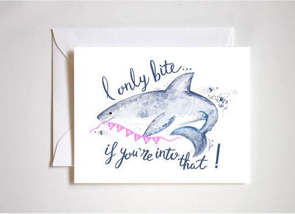 Shark Love Valentine Card