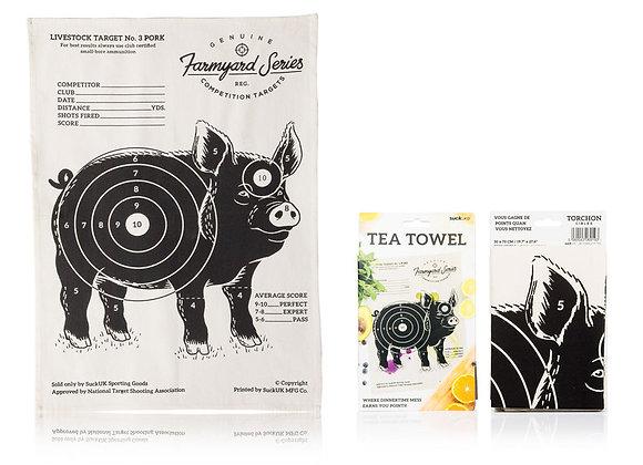 Targets Pig Tea Towel