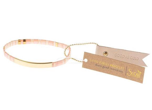 Good Karma Miyuki Bracelet Good As Gold Blush Gold