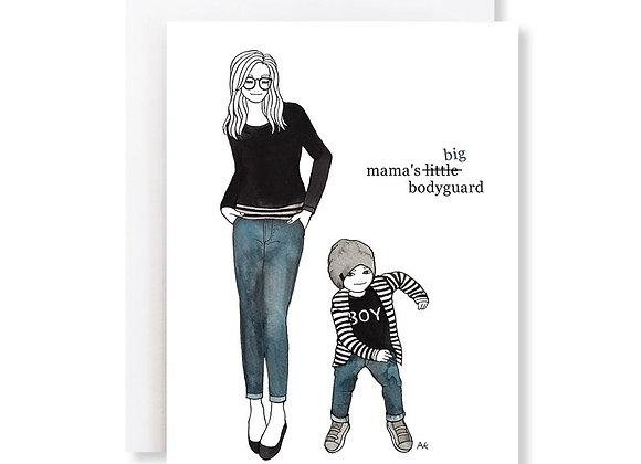 Mama's Big Bodyguard Card