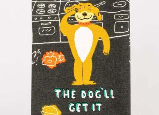 Cotton Dishtowel - The Dog'll Get It