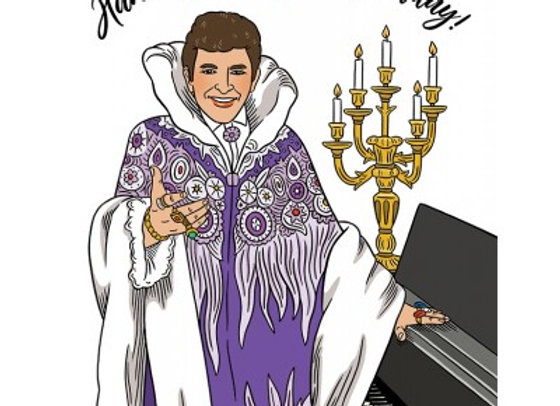 Liberace Have A Flamboyant Birthday Card by The Found