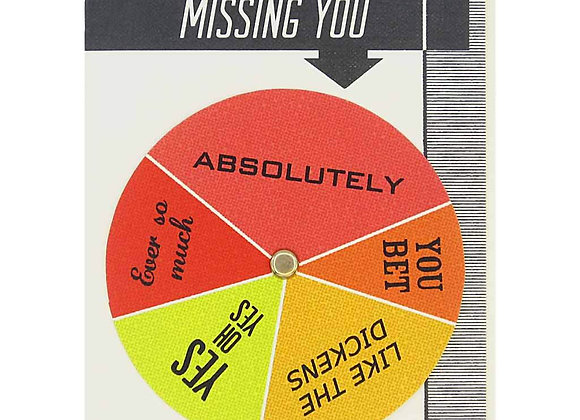 Missing You Wheel Card