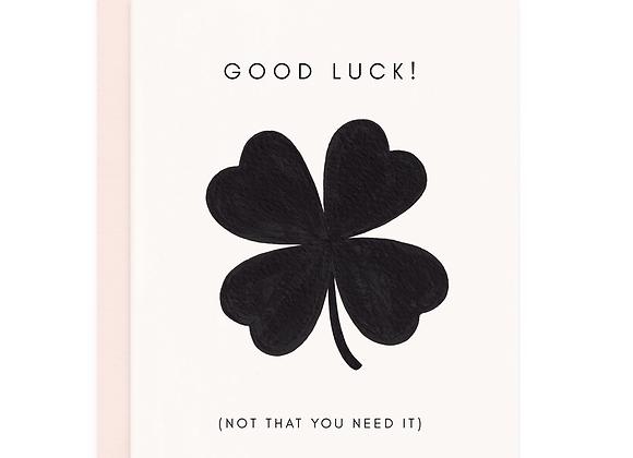 Good Luck Clover Card