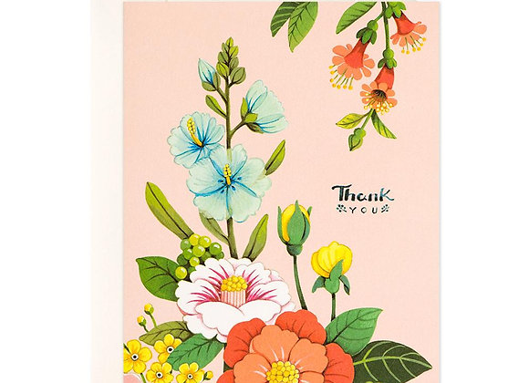 Light Pink Floral Thank You Card