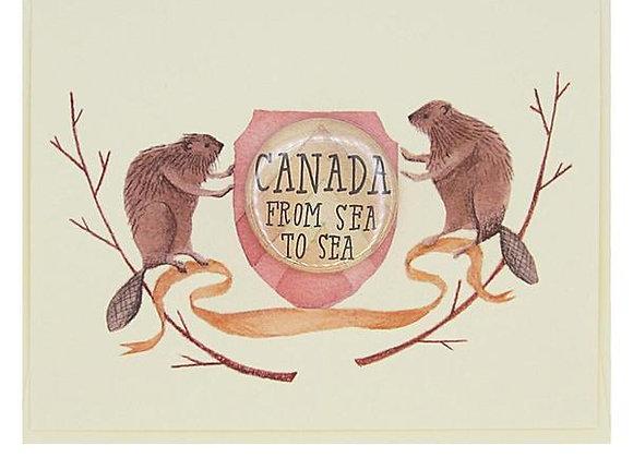 Crest Canada Beaver Card