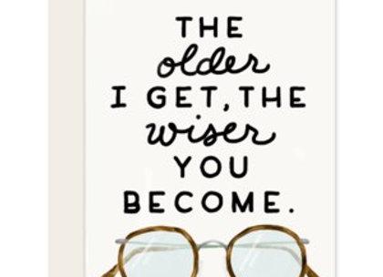 Slightly Older And Wiser Card
