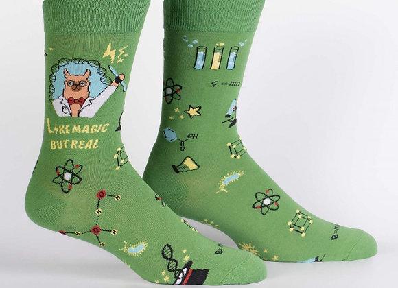 Trust Me Llama Scientist Socks