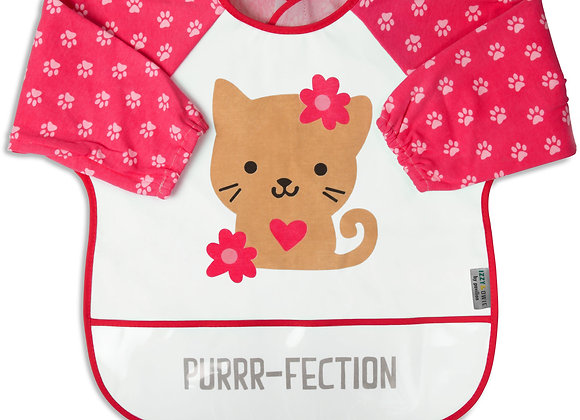 One Size Toddler Smock Pink Kitty