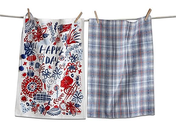 Happy Day Dishtowel set of 2
