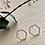 Thumbnail: Koffka Hexagon Stud Earrings Silver