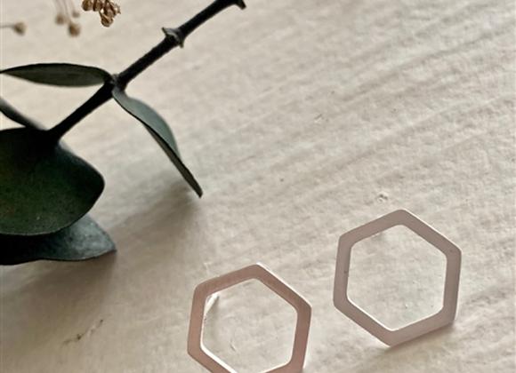Koffka Hexagon Stud Earrings Silver