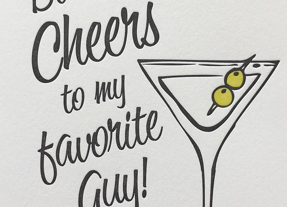 Cheers Martini Birthday Card
