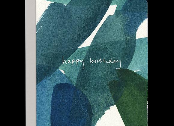 Blue In Green Happy Birthday Card