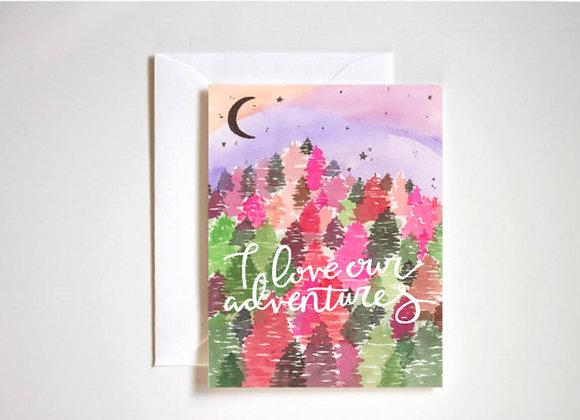 Adventurous Love Card