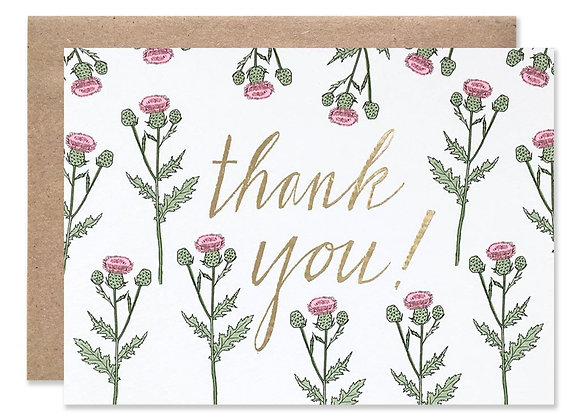 Thank You Thistles With Foil Card