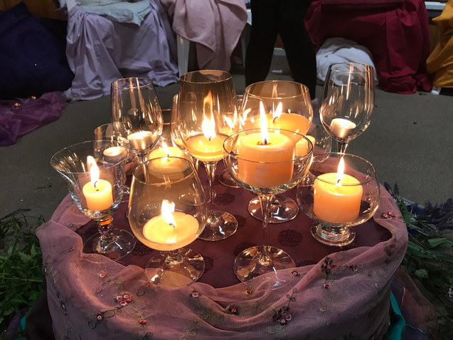 Goddess candle lights