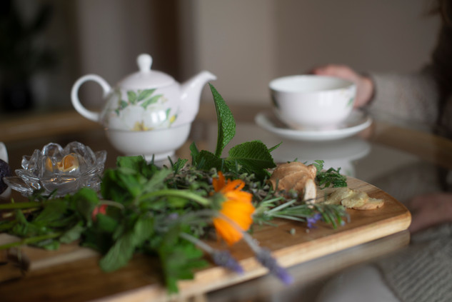 Organic Herbal Teas in our Amethyst room, with or without Tea Leaf Reading