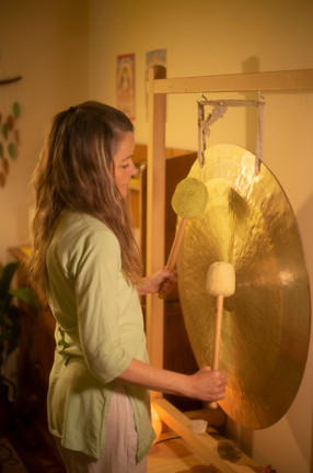 Rebecca and her Gong