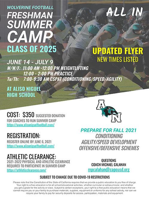 2021 Freshmen Summer Camp