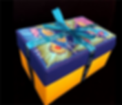 caja con tapa pintada a mano con liston
