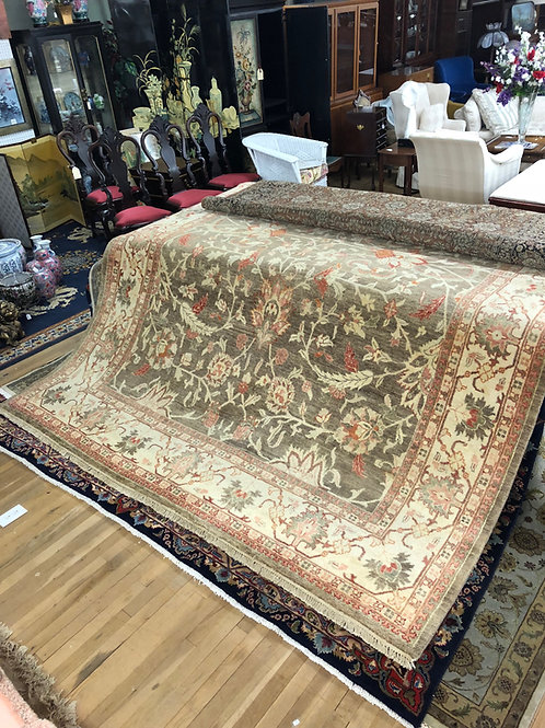 Brown and Cream Indo Persian Rug