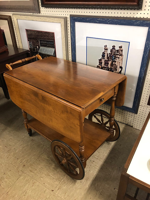 1950's Drop Leaf Tea Cart