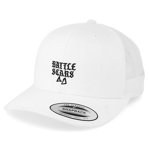 White Oldschool Trucker Cap - Embroided