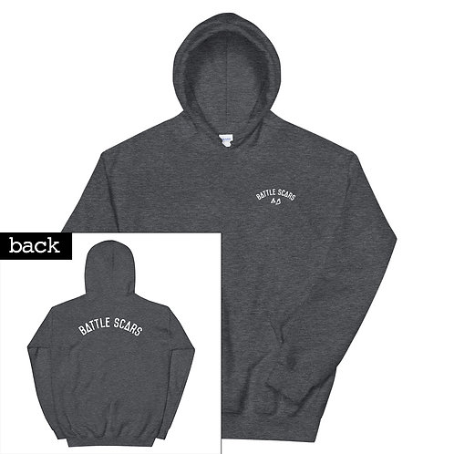 Different Colors Hoodie - White Print Front and Back