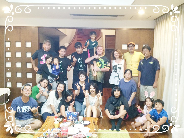 沖縄、シェアハウス、サクラ、集合写真