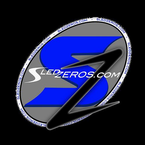 Blue SledZEROS Stickers