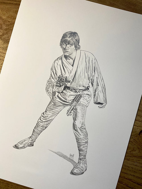 Luke 10x14 Original Pencil Artwork